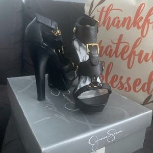 Jessica Simpson Shoes - Black & Gold Jessica Simpson High Heel